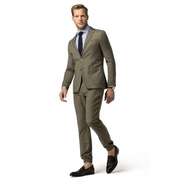 377e39d6f9b44c Tommy Hilfiger Suits & Blazers | Slim Fit Sport Suit Olive | Poshmark